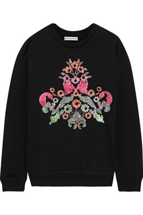 MARY KATRANTZOU Saker printed French cotton-terry sweatshirt