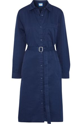 ACNE STUDIOS Alloy belted cotton-blend twill shirt dress