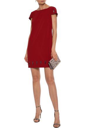 d53d06a706b3 BADGLEY MISCHKA Eyelet-embellished cady mini dress