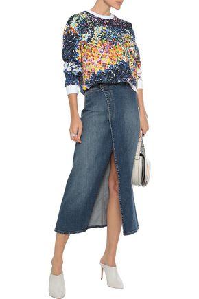 Mary Katrantzou Woman Embellished Cotton-Terry Sweatshirt Multicolor