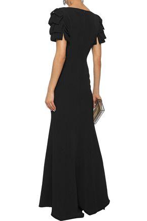 BADGLEY MISCHKA Ruffled cady gown