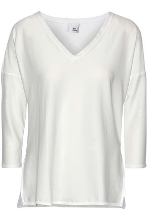 IRIS & INK Ribbed stretch-jersey top