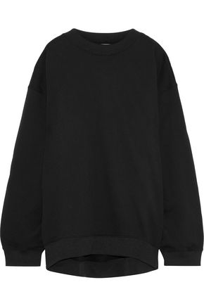 ACNE STUDIOS Beta Guitar appliquéd cotton-blend fleece sweatshirt