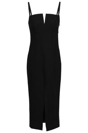 CINQ À SEPT Saoirse split-front cady midi dress