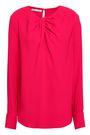 OSCAR DE LA RENTA Twist-front crepe blouse