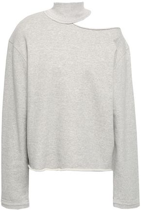 RTA Cutout French cotton-terry sweatshirt