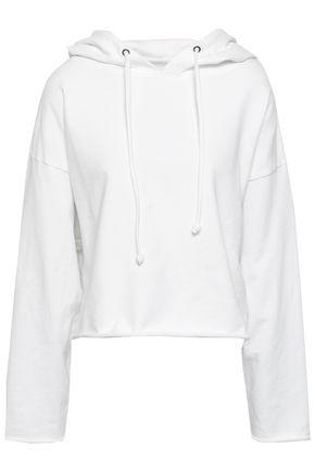 RTA Angel French cotton-terry hooded sweatshirt