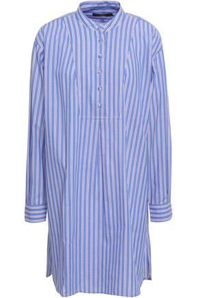 ALEXACHUNG Striped cotton-poplin mini shirt dress