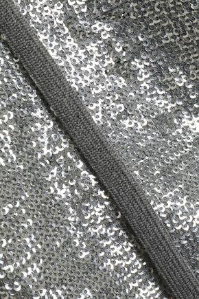 ROBERT RODRIGUEZ Sequined knitted hooded sweatshirt