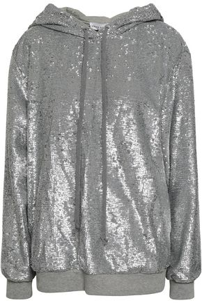 ROBERT RODRIGUEZ Sequined knitted hooded sweatshirt