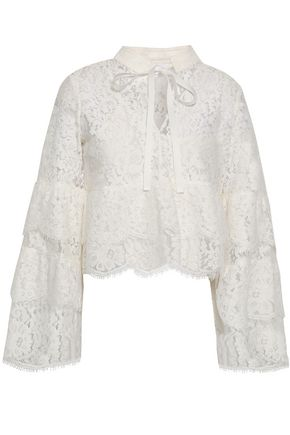 ROBERT RODRIGUEZ Cotton-blend lace blouse