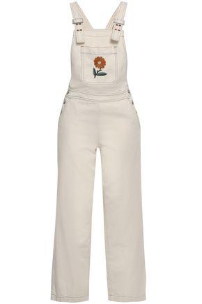 ALEXACHUNG Embroidered denim jumpsuit
