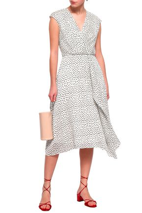 JASON WU Polka-dot silk-georgette dress