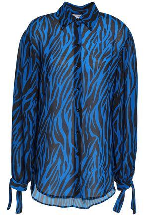 ROBERT RODRIGUEZ Zebra-print georgette shirt