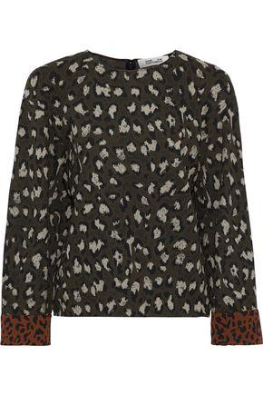 DIANE VON FURSTENBERG Leopard-print jacquard top