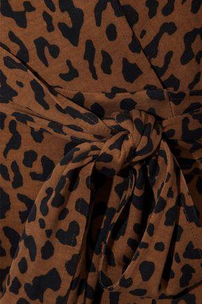 DIANE VON FURSTENBERG Leopard-printed silk-jersey wrap dress