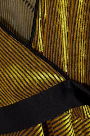DIANE VON FURSTENBERG Eloise wrap-effect satin-trimmed devoré-mesh dress