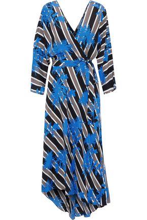DIANE VON FURSTENBERG Eloise asymmetric printed silk midi wrap dress