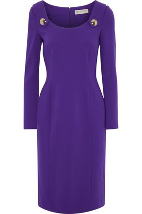 EMILIO PUCCI Button-detailed stretch-wool dress