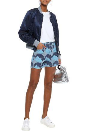 ACNE STUDIOS Printed denim shorts