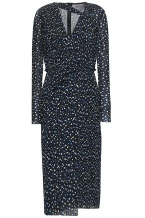 JASON WU Pleated printed georgette midi dress