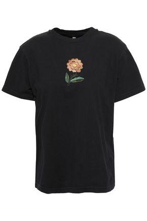ALEXACHUNG 刺繍入り コットンジャージー Tシャツ