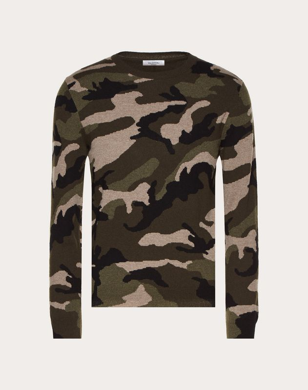 PULL COL ROND CAMOUFLAGE