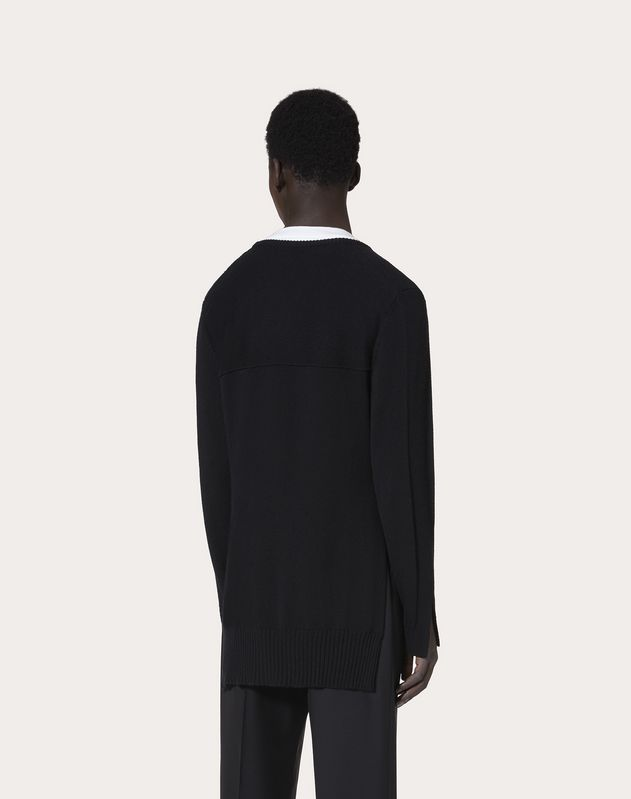 OVERSIZE CASHMERE CREW-NECK SWEATER