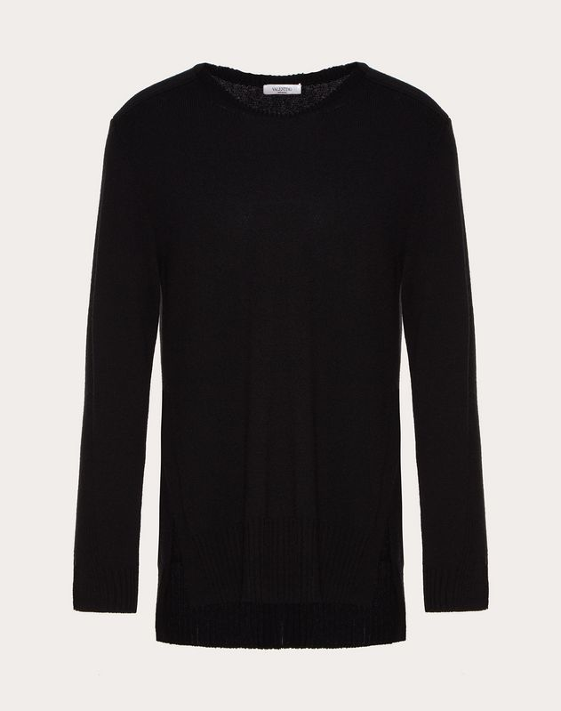 OVERSIZED CASHMERE CREW-NECK JUMPER