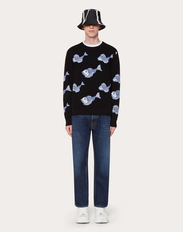 FISHRAIN CREW-NECK SWEATER