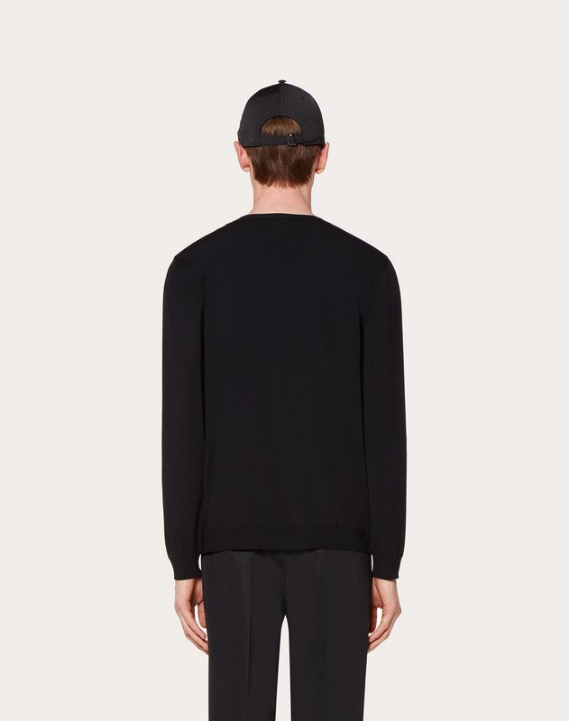 VISCOSE VLOGO CREW-NECK JUMPER