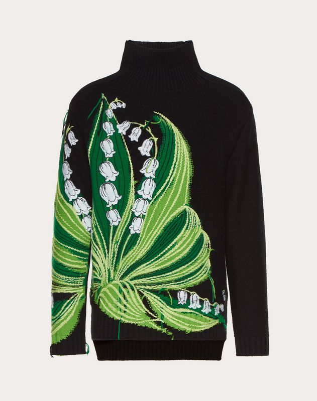 PULL COL MONTANT AVEC BRODERIE LILY V
