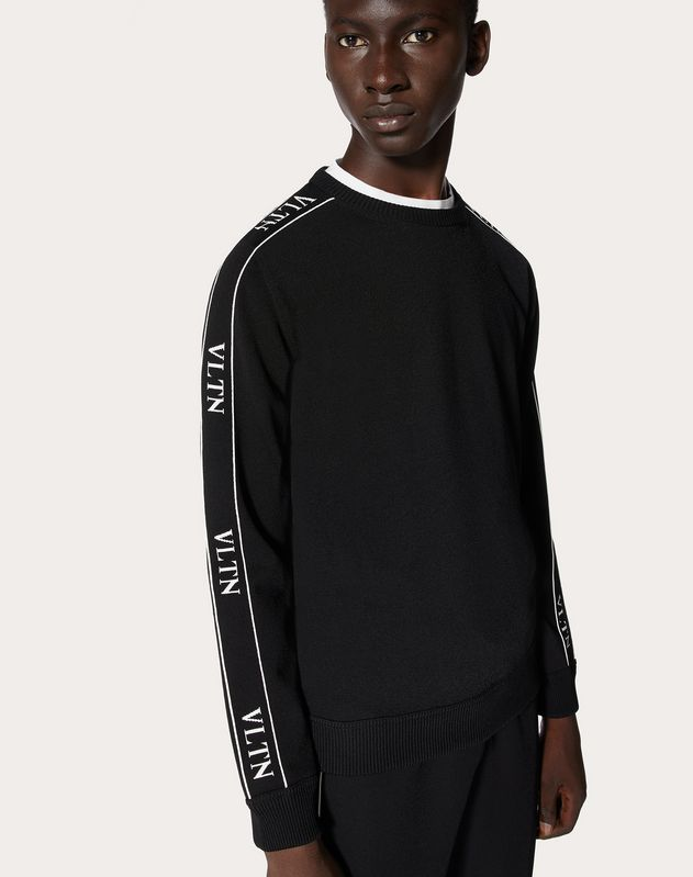 VISCOSE VLTN CREW-NECK SWEATER