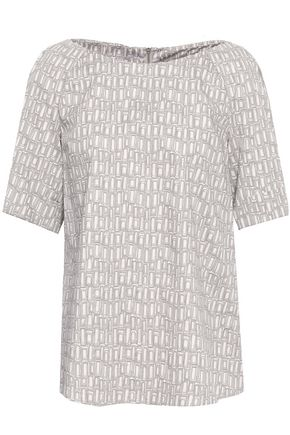 PIAZZA SEMPIONE Printed cotton-blend top
