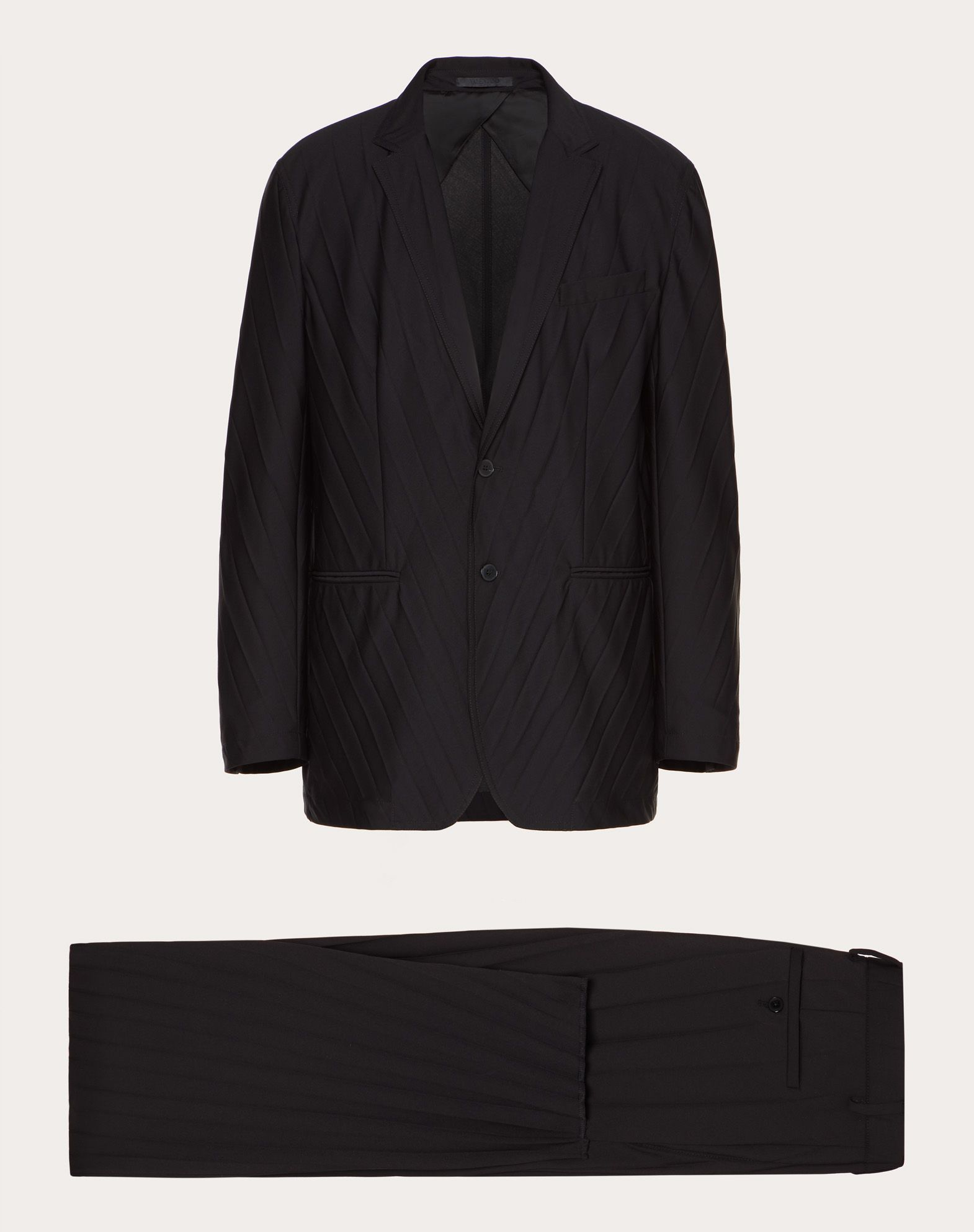 OVERSIZE 2 BUTTON UNLINED PLEATED SUIT