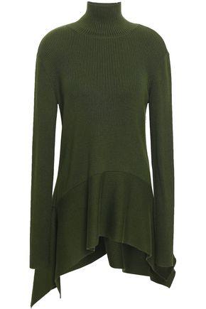 ADEAM | Adeam Ribbed-knit Silk-blend Turtleneck Top | Goxip
