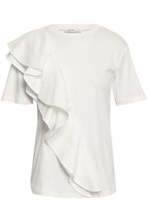 ADEAM Ruffled cotton-poplin top