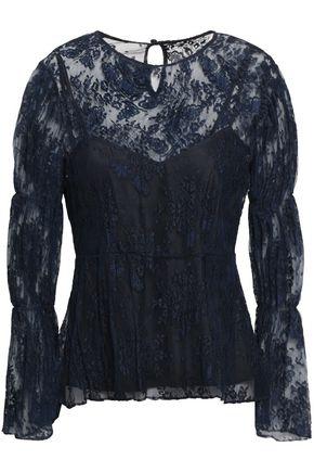 ALEXACHUNG Gathered lace blouse