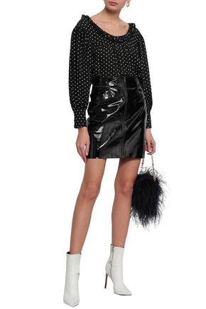 ALEXACHUNG Ruffle-trimmed jacquard blouse