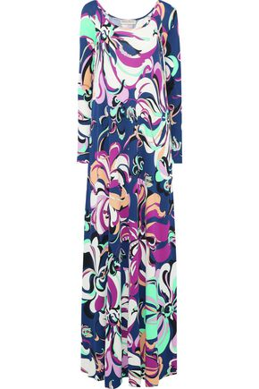 EMILIO PUCCI Printed stretch-jersey maxi dress
