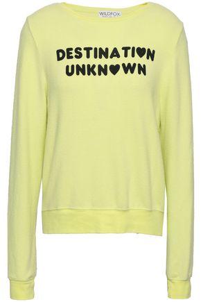 WILDFOX Printed jersey sweatshirt