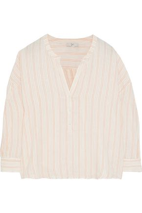 JOIE Bekette striped linen shirt