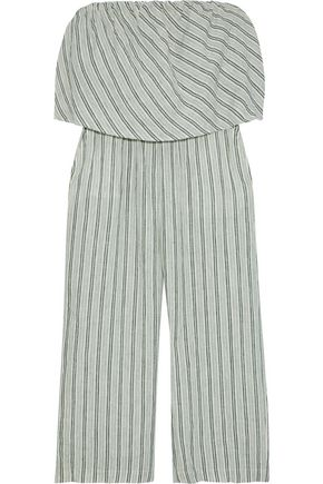 JOIE Brogan strapless cropped striped linen jumpsuit