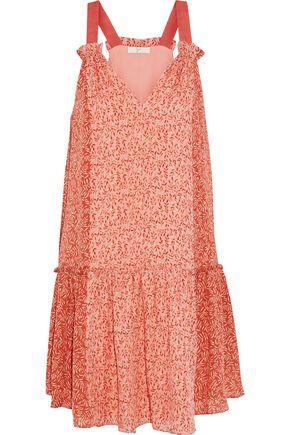 JOIE Hirani printed silk-georgette mini dress