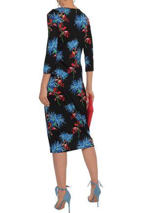 DIANE VON FURSTENBERG Leopard-print silk-jersey dress