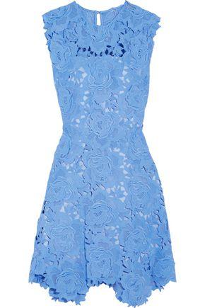CATHERINE DEANE Fjola guipure lace mini dress