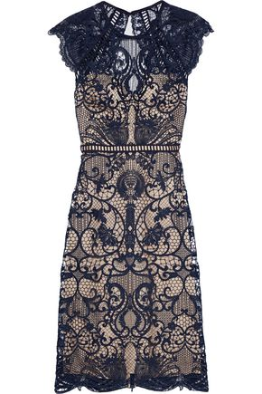 CATHERINE DEANE Melody open-back macramé lace dress