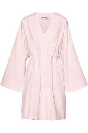 ACNE STUDIOS Calida gathered cotton-poplin mini dress