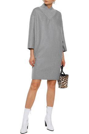 Acne Studios Dress ACNE STUDIOS WOMAN BENNET RAW WOOL-BLEND FELT MINI DRESS GRAY
