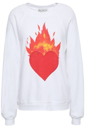 WILDFOX Printed cotton-blend sweatshirt